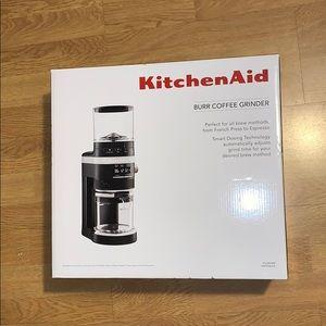 NIB KitchenAid Burr Coffee Grinder - Matte Black